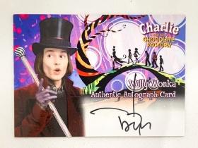 【苏米勒斯】 Art box 约翰尼德普 加勒比海盗男主 查理与巧克力工厂 签名签字 亲笔签名 市面稀有  唯一认证影视卡Ebay 2225刀