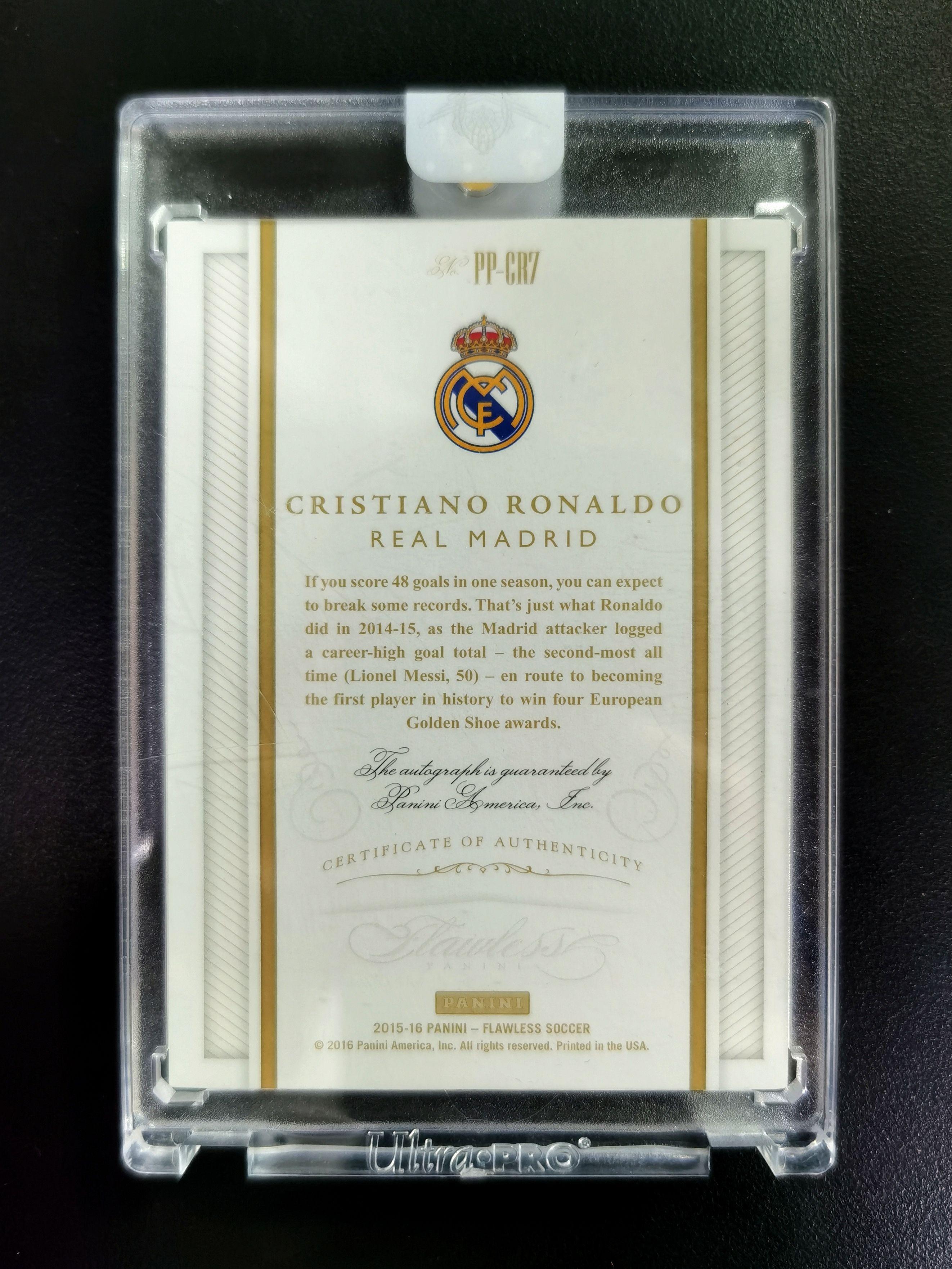 【泰坦拍卖-GZ】2015-16 手提Flawless元年 C罗纳尔多Ronaldo 23/25编银版签字 原封砖 皇马尤文曼联葡萄牙 与梅西相望江湖