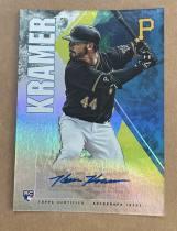 ^^撸卡厮^^ 2019 topps 棒球 fire 签名卡 油画喷墨带折射风格 KEVIN KRAMER 卡品看描述