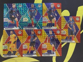 【Lucky球星卡店官方代拍-CC+0925】2021 Panini 马赛克 欧洲杯 本耶德尔 拉比奥特 迪涅 洛里斯 法国 红金折 /88 孔雀折 7张
