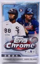 【03】2021 Topps CHROME Baseball Hobby Box 经典折射系列 原封盒卡 单盒 每盒2签字 博超级折签字 顶级新秀签字