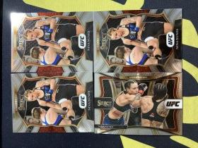 【Lucky球星卡店官方代拍-TT+0925】20-21 Panini Select UFC 妮娜·努涅斯 常规 base 4张打包