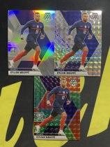 【Lucky球星卡店官方代拍-CC+0925】2021 Panini 马赛克 欧洲杯 基利安·姆巴佩 巴黎圣日耳曼 红绿折 银折 银马赛克折 3张打包