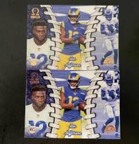 (不累计)Van Jefferson 新秀卡 洛杉矶公羊 2020年 Panini Chronicles  Football Omega 系列新秀卡2张