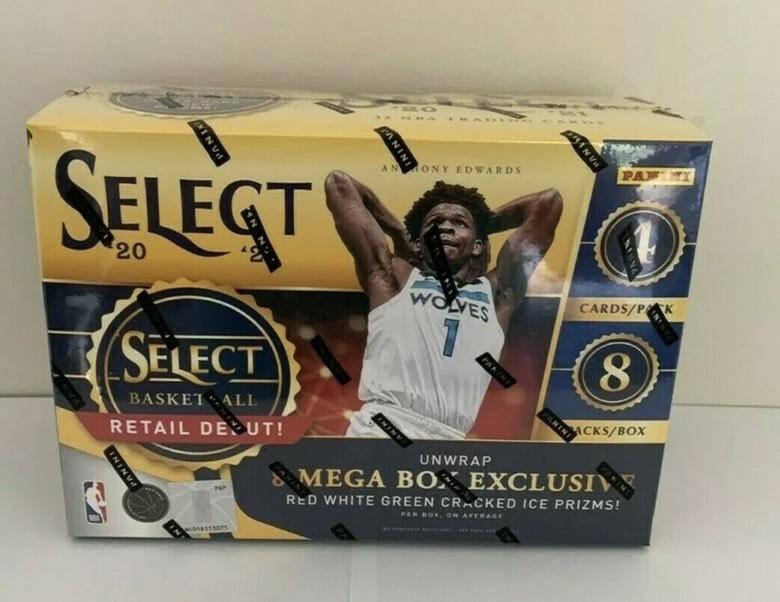 2021 Select Mega 每盒8x4张 博三球爱德华兹哈里伯顿独占碎冰签字 10编 1编 大象折 老虎折  红蓝随机发