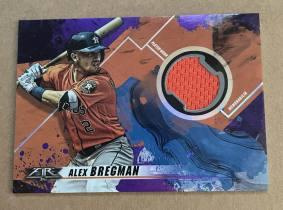 ^^撸卡厮^^ 2019 topps 棒球 fire 实物球衣卡 油画喷墨带折射风格 紫色 /50 ALEX BREGMAN